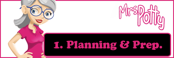 Potty training planning and preparation